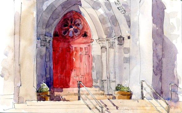 Another red door at St. Joachim Church