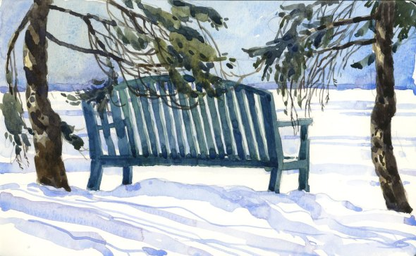 Bench, waiting for spring