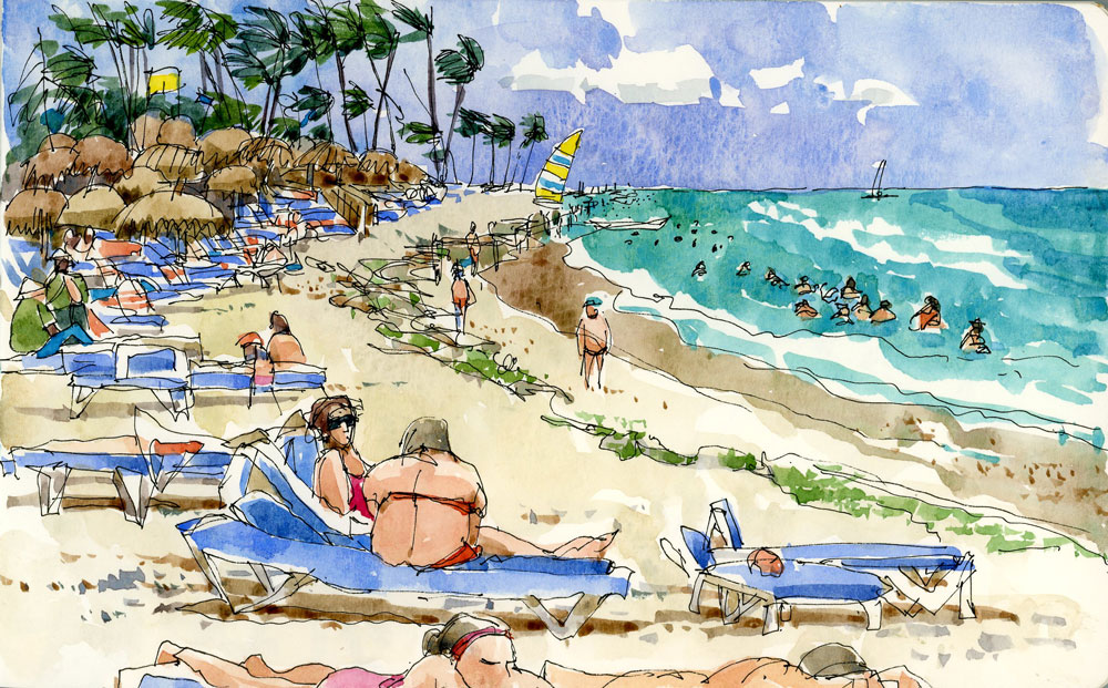 The real beach the sketchbook altavistaventures Image collections