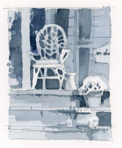 Wicker in Shade Value Sketch