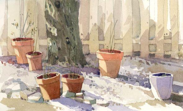 Winter Hosta