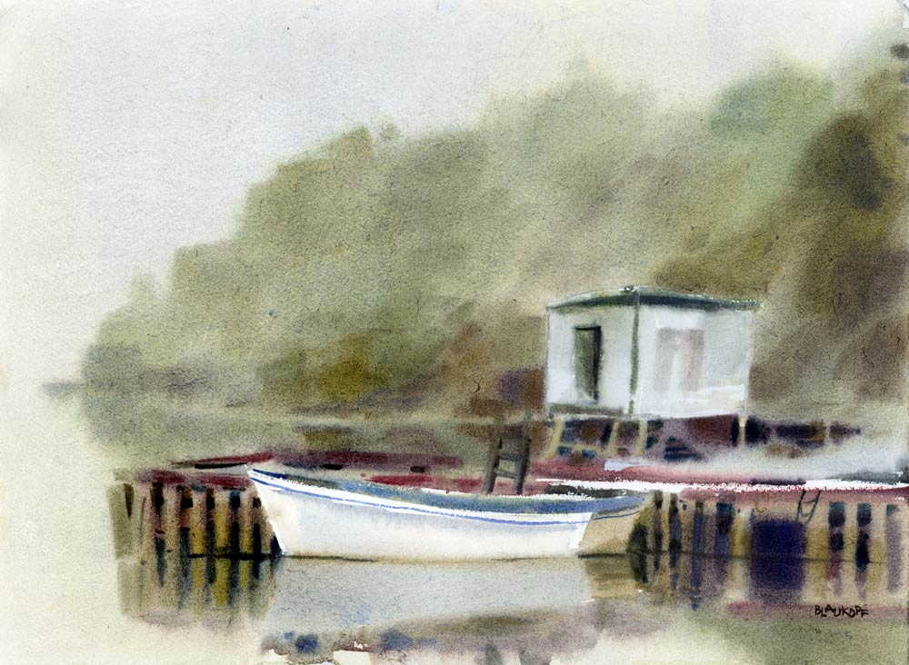 Dry Fog Painting : August the sketchbook page