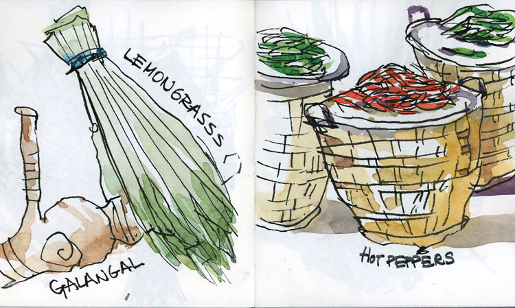 A Few Thai Food Sketches | The Sketchbook