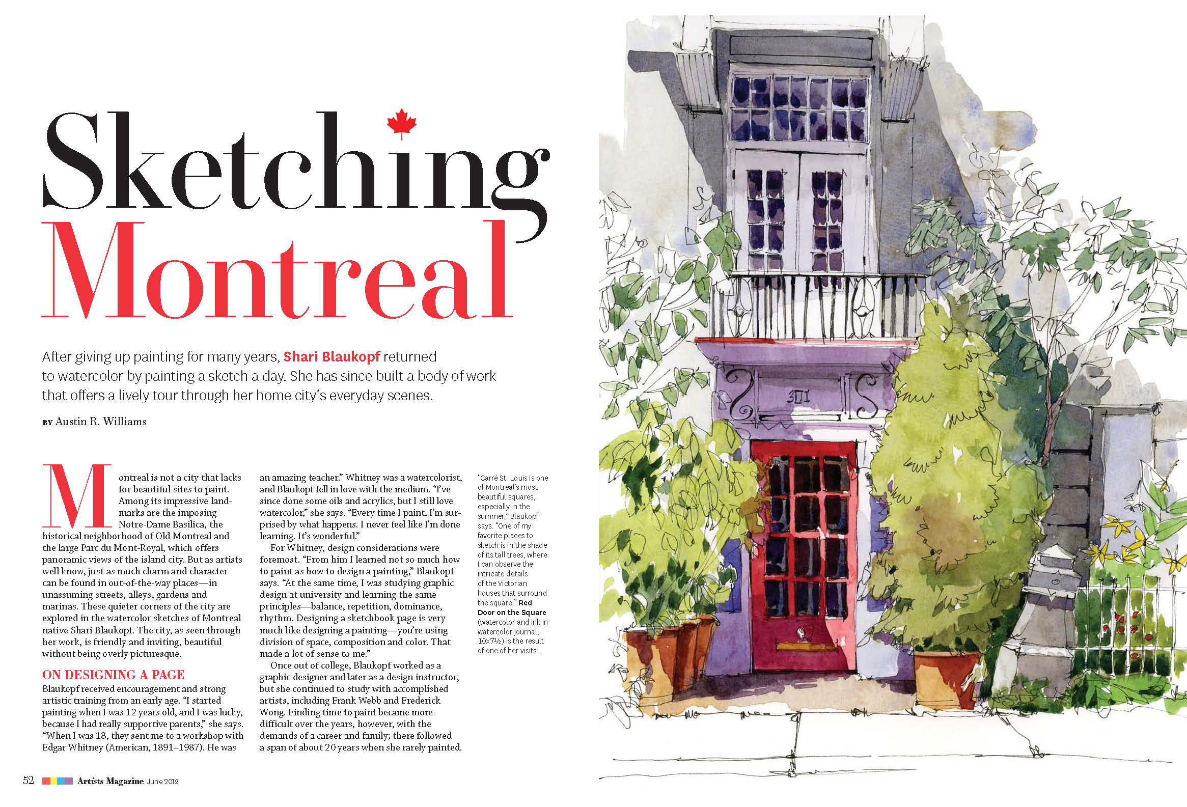 Sketching Montreal: an article in Artists Magazine